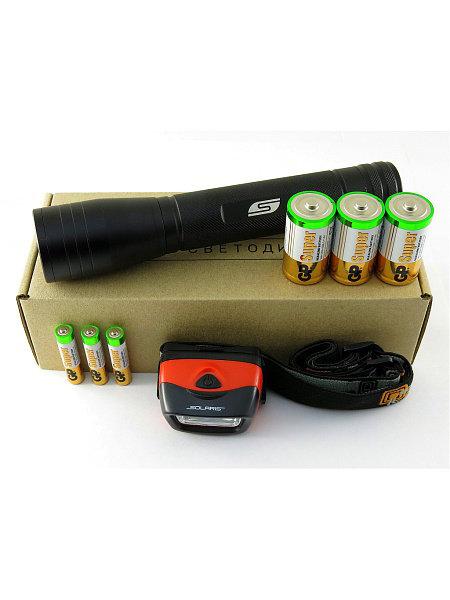 Набор тактических фонарей с комплектацией Solaris 4105 Kit FZ-65/L20, SOLARIS